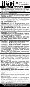 ACCA Vacancy in Siddhartha Bank Limited - seed financial academy